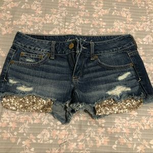 AEO sequin pocket shorts